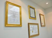 OrthoSmile Dental Clinic certificates