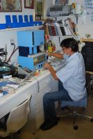 RamLanz Dental Working in laboratory