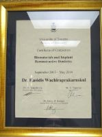 OrthoSmile Dental Clinic Dr. Kasidis University of Toronto Faculty of Dentistry certificateof comple