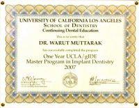 Dental 4 U Dr. Warut Muttaruk certificate #6