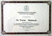 Dental 4 U Dr. Warut Muttaruk certificate #2