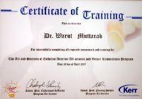 Dental 4 U Dr. Warut Muttaruk certificate #1