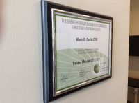 Dr. Mario Garita-The Dental Experience, Certificate