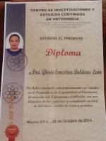 Harmony Dental Studio, Dra. Balderas diploma
