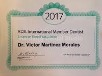Harmony Dental Studio, ADA 2017 certificate