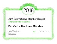 Harmony Dental Studio, ADA 2018 certificate