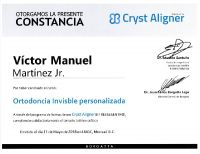 Harmony Dental Studio, Tijuana - Cryst Aligner certification 2018