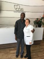 Ocean Dental Specialists, happy patient with Dr. Gavaldon