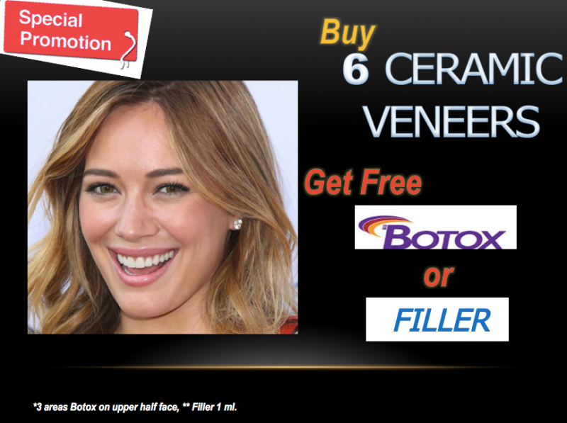 Buy 6 Ceremic Veneers get free Botox or Filler at Face To Teeth Clinic - Medical