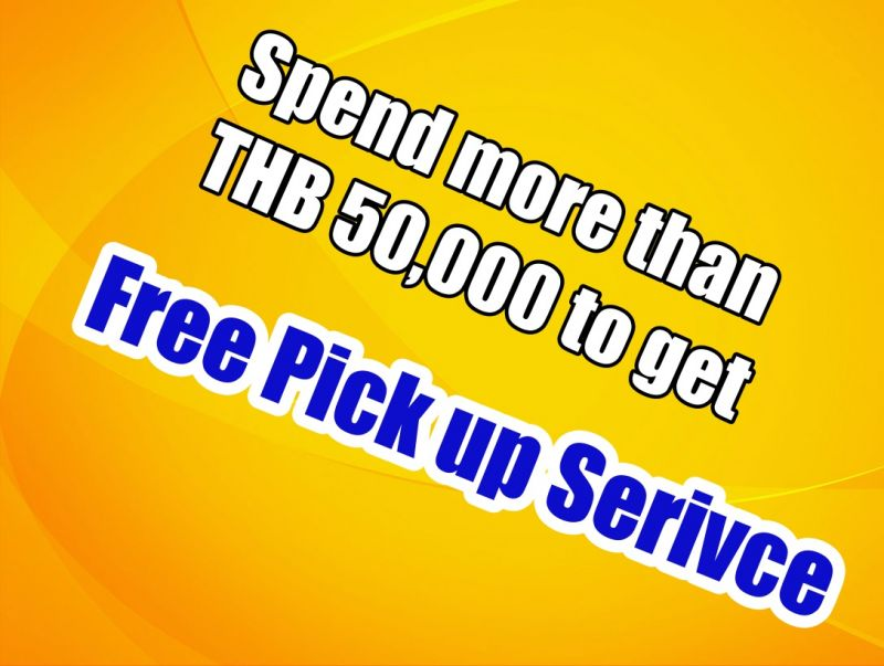 Spend more than THB 50,000 to get Free pick up at The Ivory Dental Clinic
