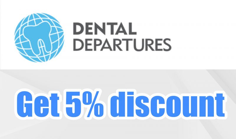 5% discount from Dental Departures.