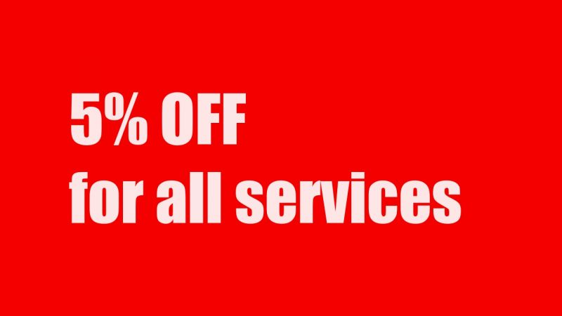 5% discount for all services at Vinh An Dental Clinic.