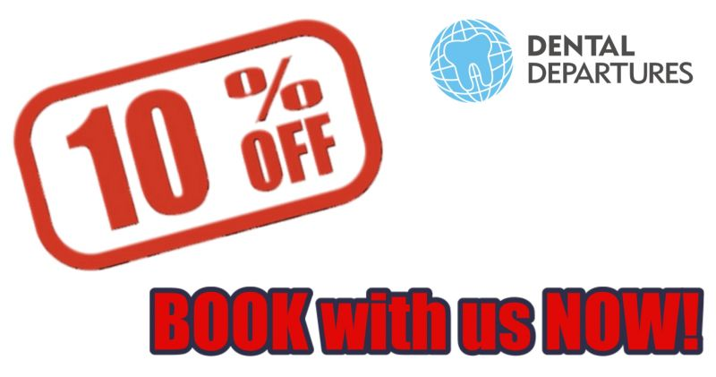 10% discount on Full Porcelain/Inlay/Onlay CAD/CAM for Dental Departures patient ONLY at Elite Dental Vietnam (Tu Xuong)