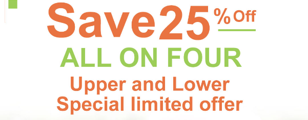 Upper and lower special limited offer.