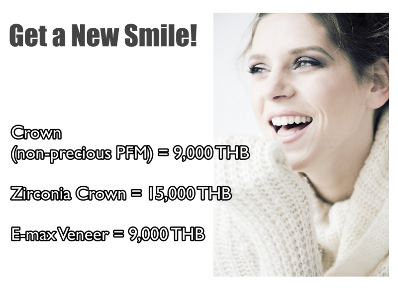 Get Special price for Crown/Veneers