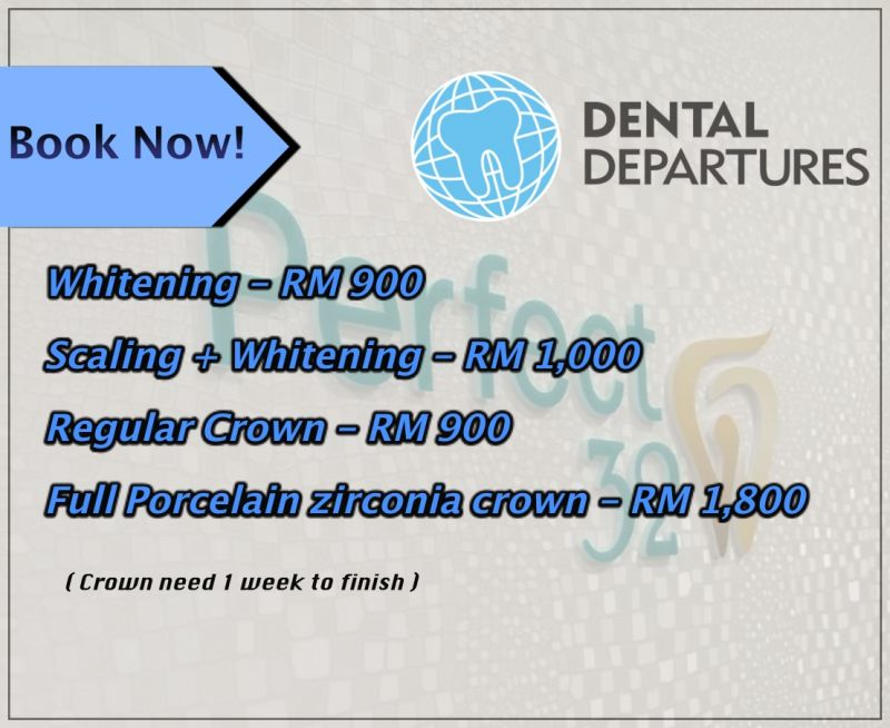 Special prices ONLY at Dental Departures